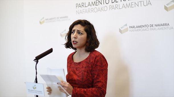Laura Pérez, de Podemos Navarra.
