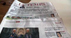 Portada del periódico Le Temps con la entrevista a Anna Gabriel donde anunciaba que se quedaría en Suiza.