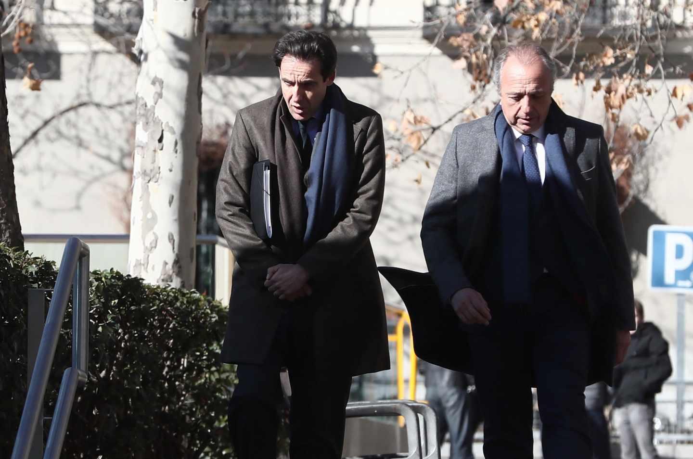 Javier López Madrid, llegando a la Audiencia Nacional en una de sus comparecencias.