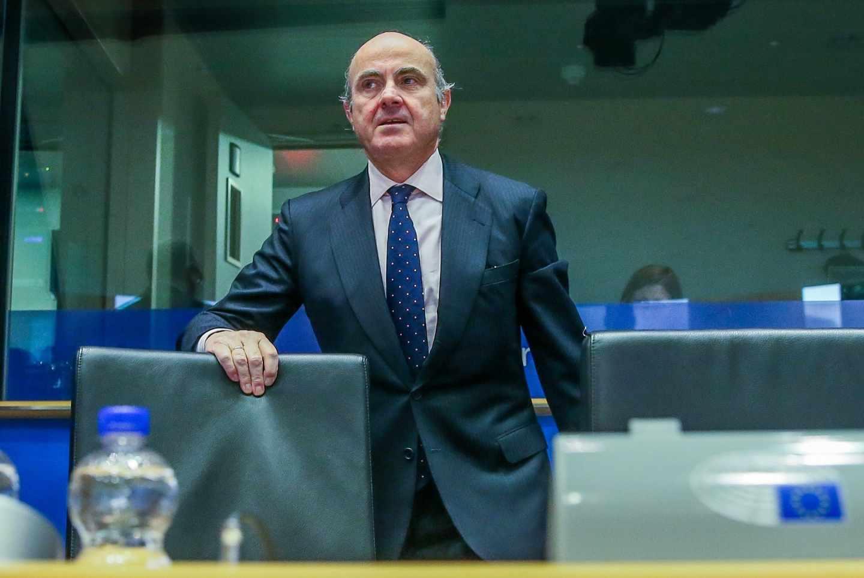 El todavía ministro de Economía español, Luis de Guindos, elegido por el Eurogrupo como nuevo vicepresidente del Banco Central Europeo.