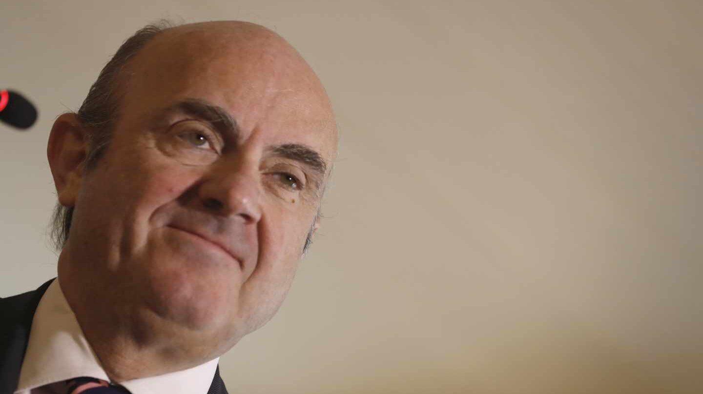 Luis de Guindos, durante la comparecencia en la que confirmó su candidatura a la plaza en el Banco Central Europeo.