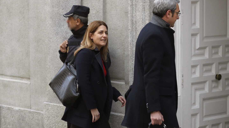 La coordinadora general del PDECAT, Marta Pascal, a su llegada al Tribunal Supremo.