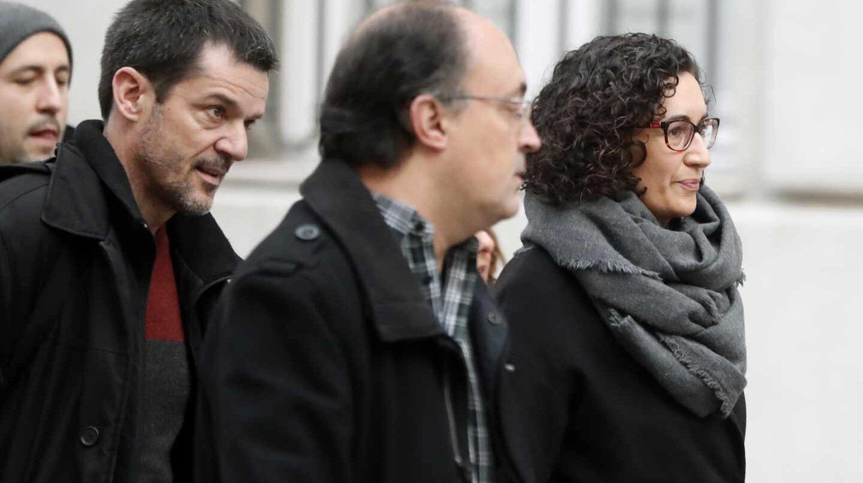 Marta Rovira llega a la sede del Tribunal Supremos para declarar como investigada por su participación en el proceso independentista de Cataluña.