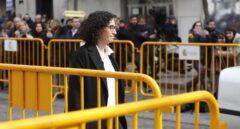 La líder de ERC, Marta Rovira, en su llegada al Tribunal Supremo.