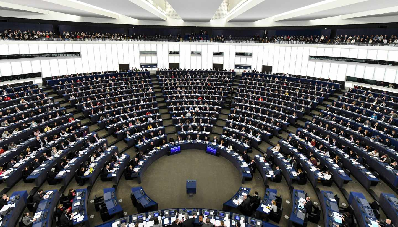 Vista panorámica del Parlamento Europeo.