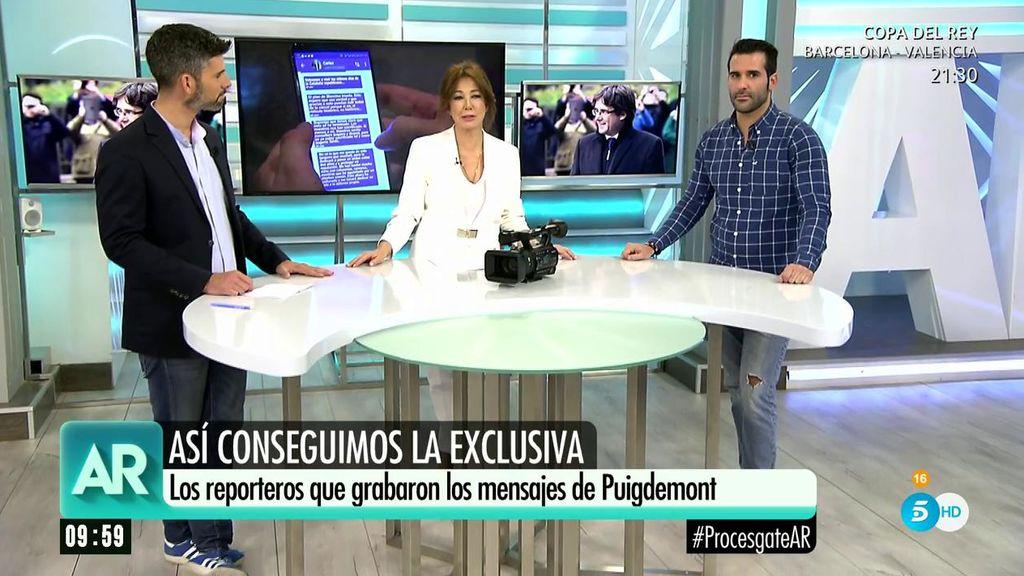 Luis Navarro y Fernando Hernández explican en 'El programa de Ana Rosa' cómo lograron captar los mensajes de Puigdemont.