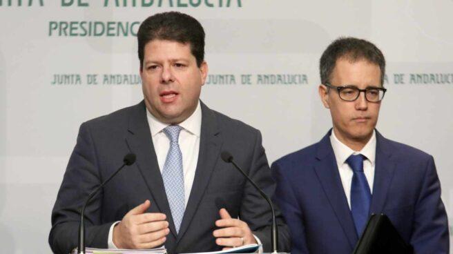 Fabian Picardo, ministro principal del Gobierno de Gibraltar, en rueda de prensa.
