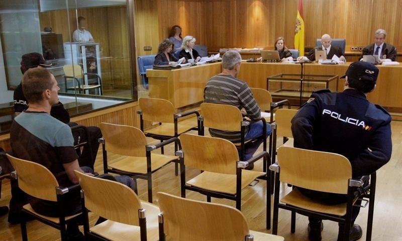 Los etarras Portu y Sarasola, durante su declaración.
