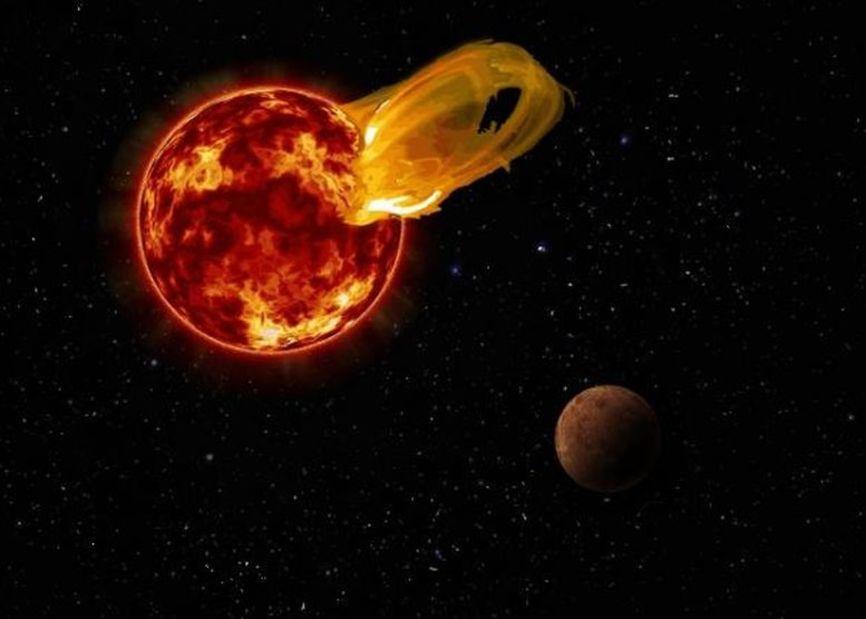 Recreación de llamarada en Proxima Centauri