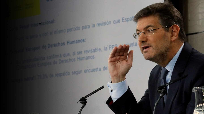 Rafael Catalá, ex ministro de Justicia.