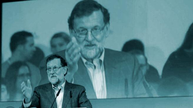 Mariano Rajoy, en un acto del PP en Sevilla.