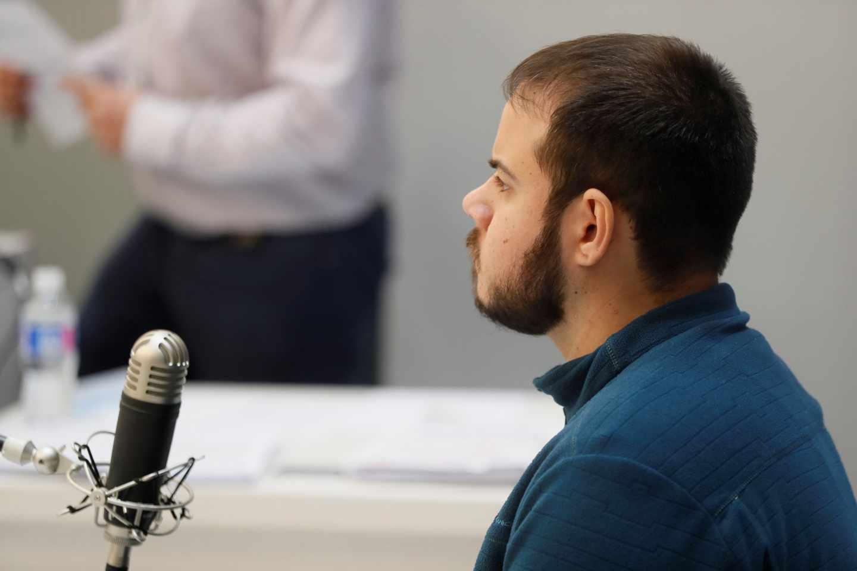 El rapero Pablo Hasel, durante una sesión del juicio.