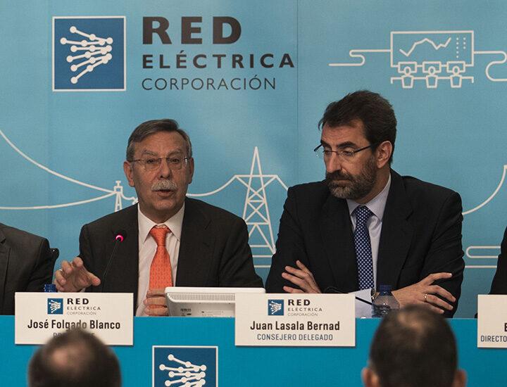 El presidente de REE, José Folgado, y su consejero delegado, Juan Lasala.