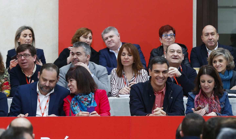 Pedro Sánchez, en el Comité Federal del PSOE en Aranjuez.