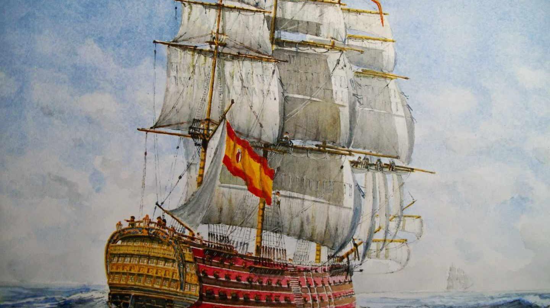 Historia de la bandera de España.