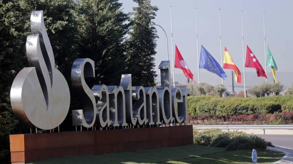 Entrada a la Ciudad Financiera del Santander en Boadilla del Monte (Madrid).