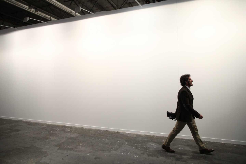 La pared donde se encontraba la obra de Santiago Sierra en ARCO.