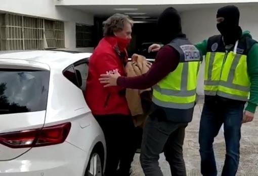Momento de la detención de Sito Miñanco en la operación Mito