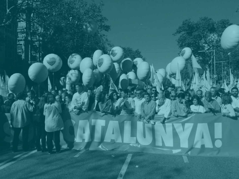 La manifestación de Societat Civil Catalana, el pasado octubre.