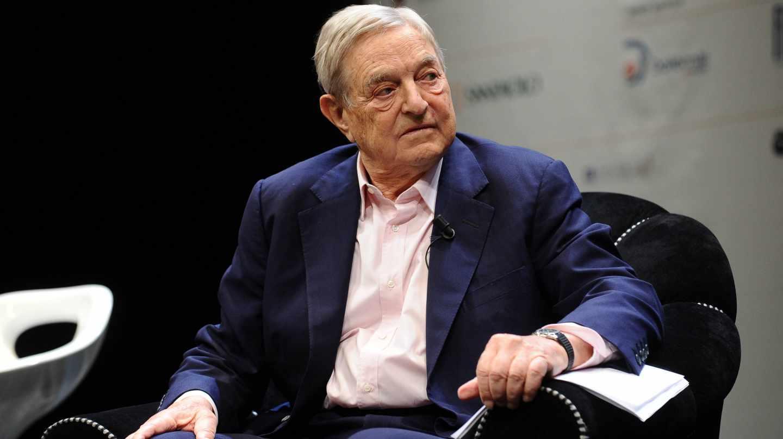 El multimillonario George Soros en una intervención en Davos.