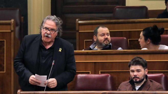 Los diputados de ERC en el Congreso de los Diputados, Joan Tardá y Gabriel Rufián.
