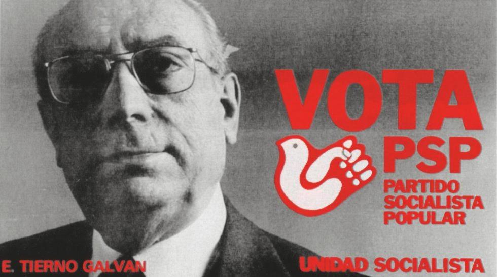 Cartel electoral de Enrique Tierno Galván