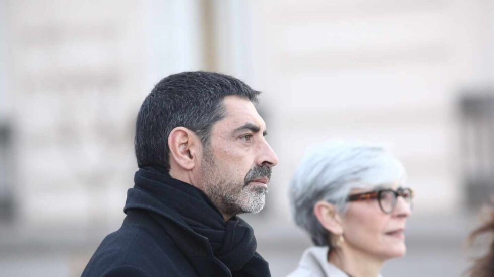 El ex mayor de los Mossos, Josep Lluis Trapero, a su llegada a la Audiencia Nacional para declarar por un posible delito de sedición.