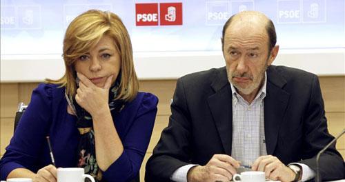 Alfredo Pérez Rubalcaba y Elena Valenciano en una imagen de archivo