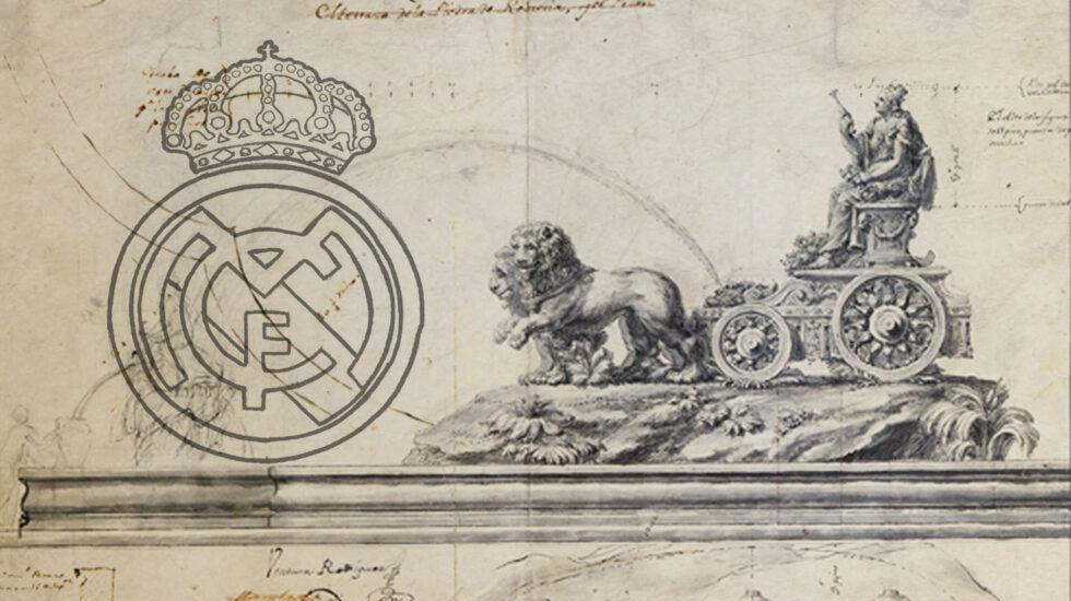 Proyecto de la Cibeles y escudo del Real Madrid