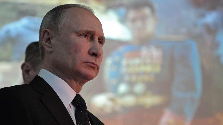 El dirigente ruso, Vladimir Putin, durante el 75 aniversario de la batalla de Stalingrado.