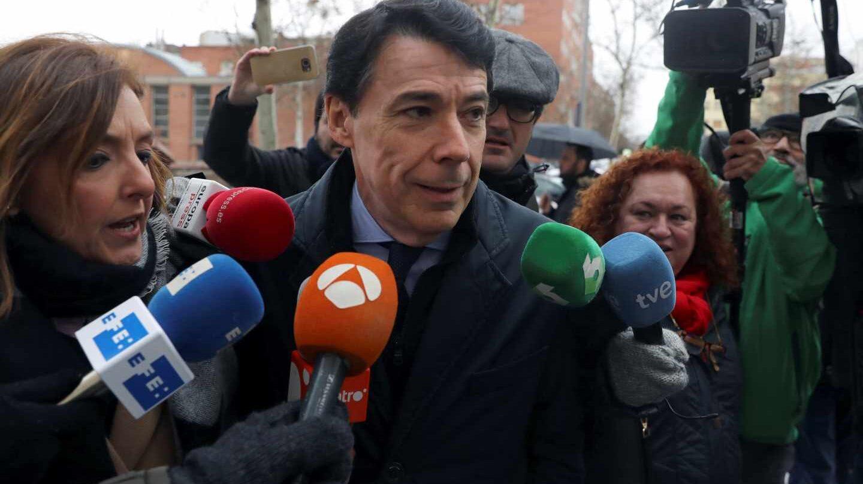 Ignacio González, en los Juzgados de Plaza de Castilla.