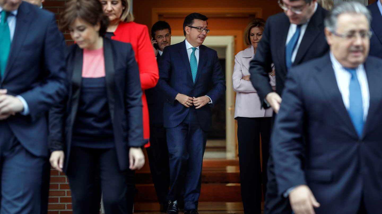 Los ministros antes de posar para la foto de familia