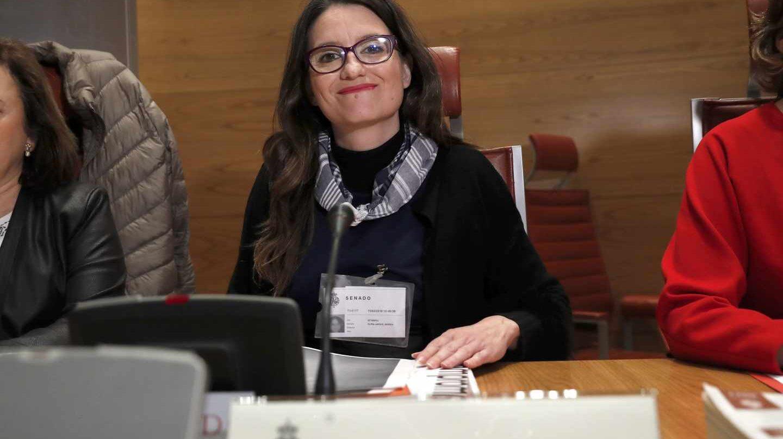 La vicepresidenta valenciana y colíder de Compromís, Mónica Oltra, durante su comparecencia ante la comisión de investigación del Senado.