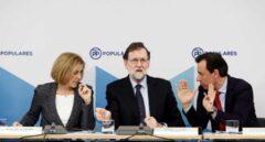 Cospedal, Rajoy y Maillo en el comité federal de este lunes