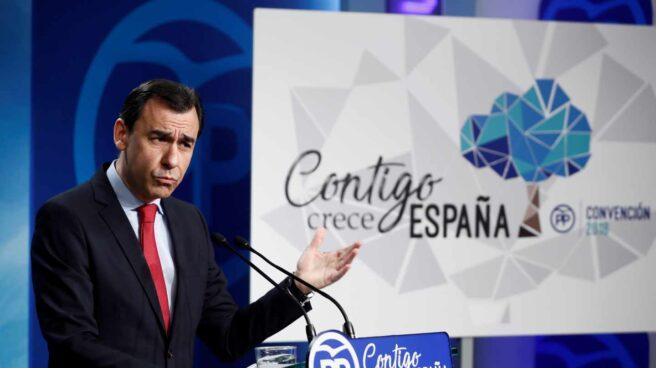 Fernando Martínez Maillo en la presentación del logo de la convención nacional del PP.