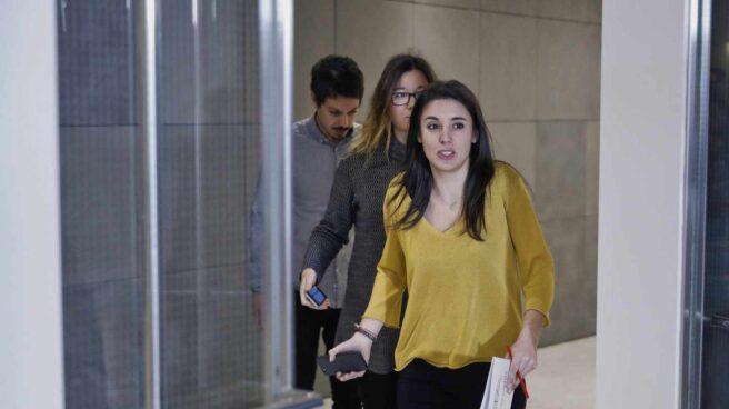 La portavoz parlamentaria de Unidos Podemos, Irene Montero, en el Congreso.