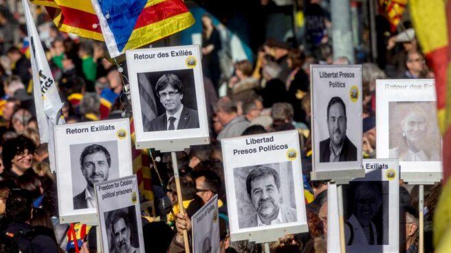 Manifestación en Barcelona convocada por la Asamblea Nacional Catalana (ANC).