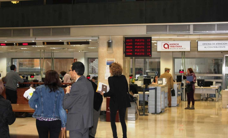 Oficina de la Agencia Tributaria en Murcia.