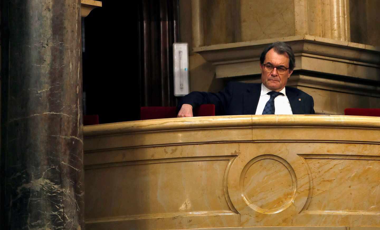 Artur Mas, en el Parlament de Cataluña.
