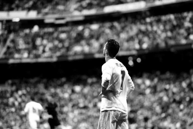 Cristiano Ronaldo, en el estadio Santiago Bernabéu.