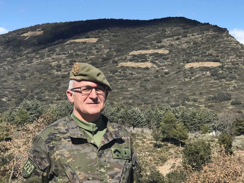El Subteniente D. Miquel Peñarroya i Prats, presidente de ASFASPRO.