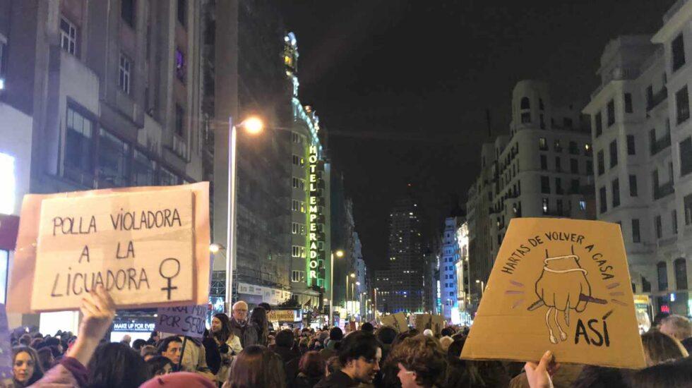 Pancartas 8M en Madrid