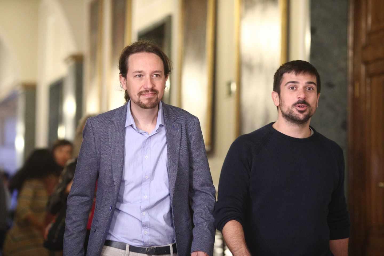 Pablo Iglesias y Ramón Espinar.