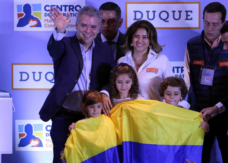 Iván Duque, aspirante a la Presidencia de Colombia, tras su victoria en las primarias.