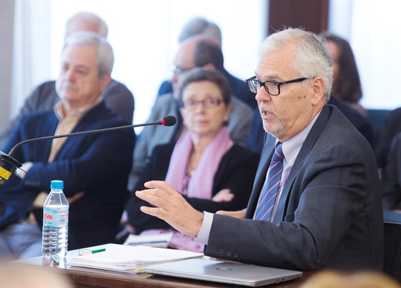 Manuel Gómez Martínez, interventor general de la Junta entre 2000 y 2010, declarando en el juicio de los ERE.