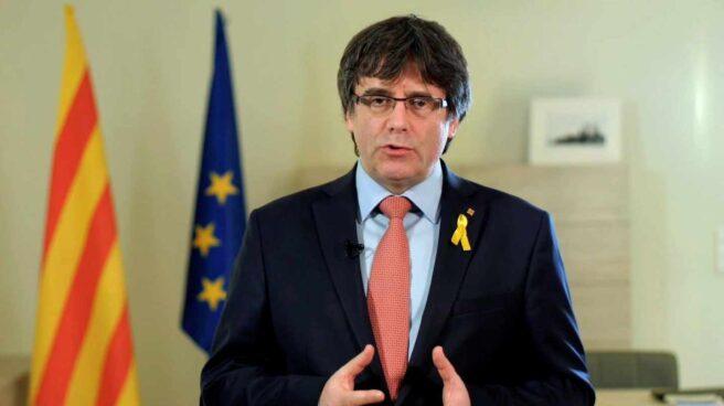 Imagen de un vídeo difundido a través de las redes sociales de Carles Puigdemont.