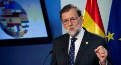 El presidente del gobierno español, Mariano Rajoy, en rueda de prensa tras el Consejo Europeo.