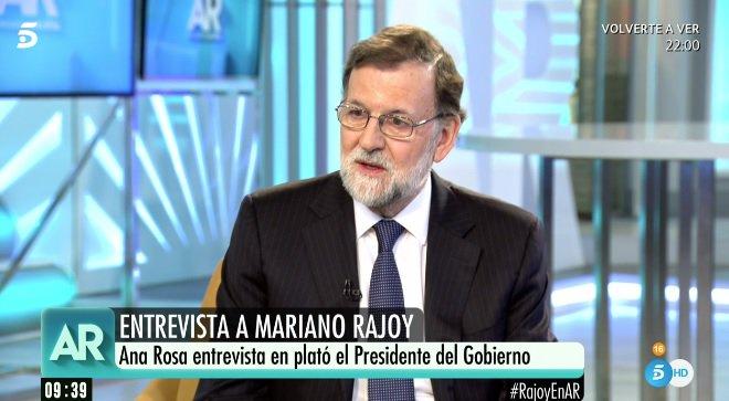 Mariano Rajoy, en su entrevista en Telecinco.