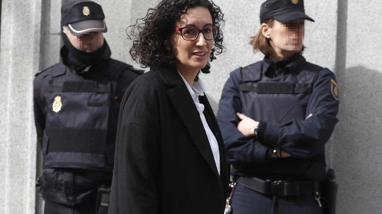 Marta Rovira, en febrero entrando en el Tribunal Supremo.
