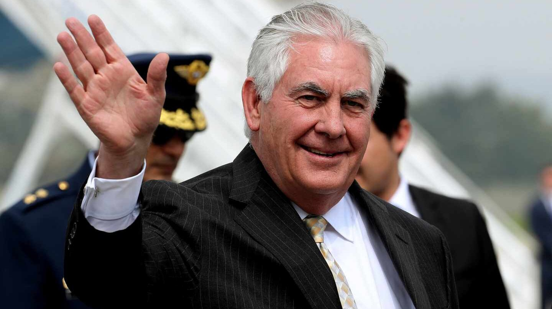 Rex Tillerson en un viaje reciente a Colombia.